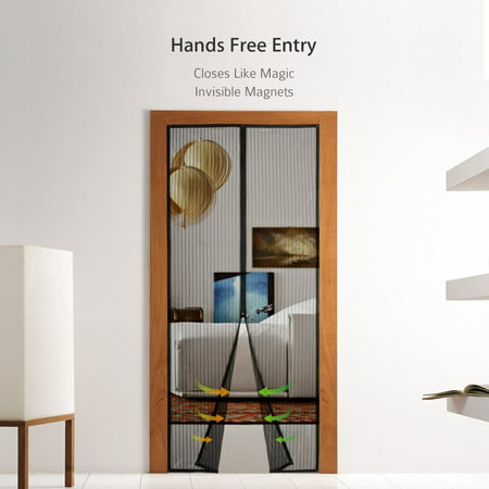 Mother's Day Gift Magnetic Screen Door with Heavy Duty Mesh Curtain and Full Frame Seal Fits Door Size up to 36