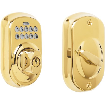 Schlage BE365VPLY505 Plymouth Keypad Deadbolt