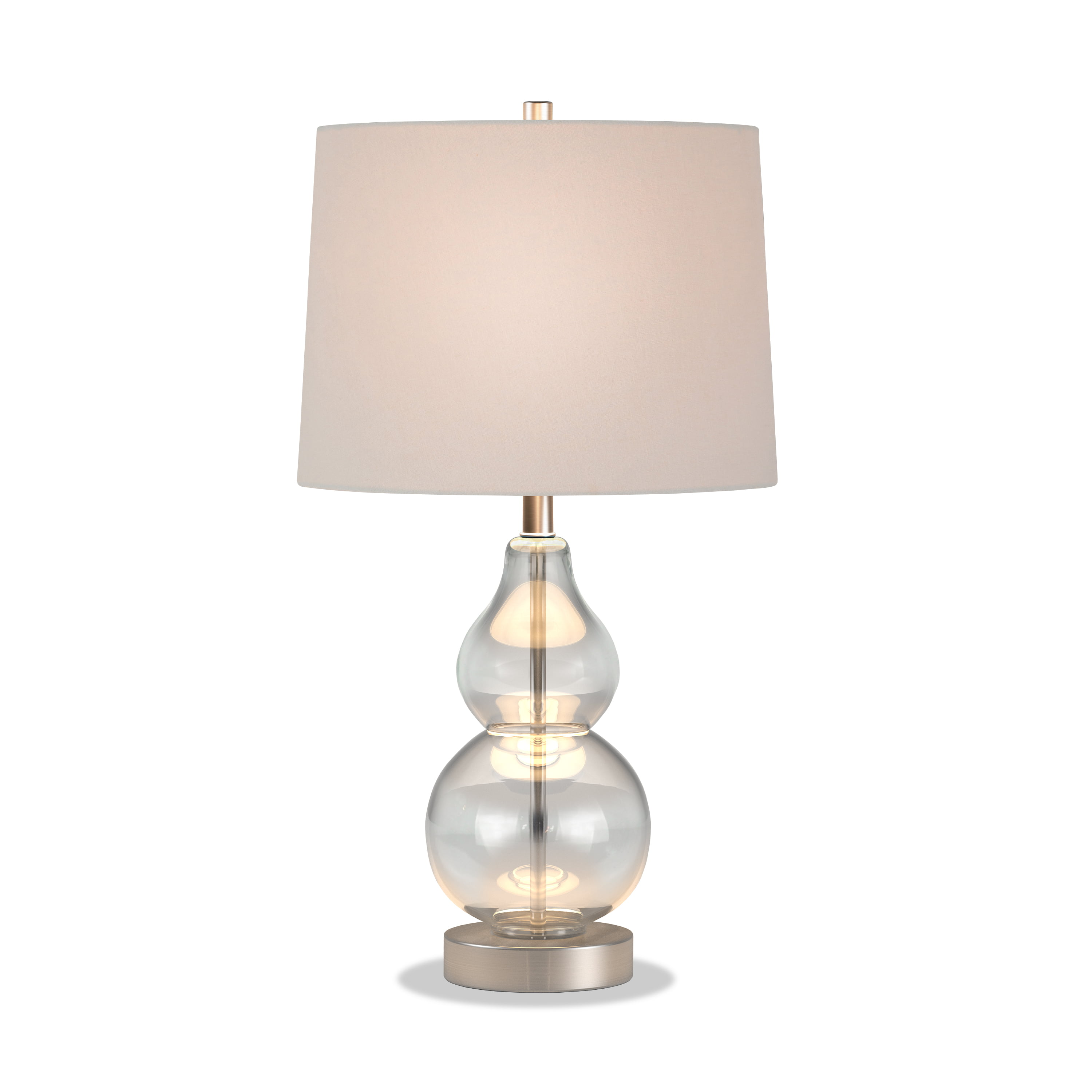 Evelyn Zoe Traditional Metal Petite Table Lamp With Satin Nickel Accents Walmart Com Walmart Com