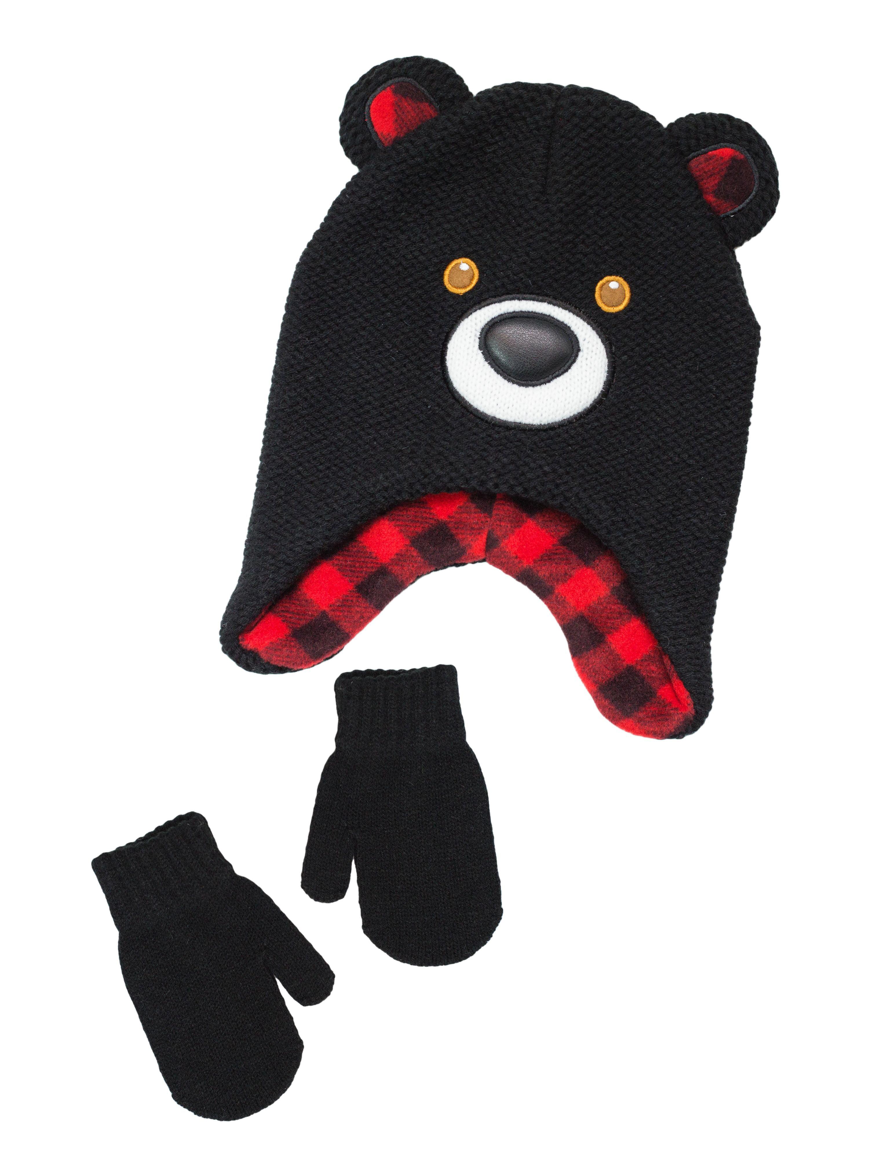 ecadf9d9f Wonder Nation Infant Toddler Boys Hat And Glove Sets – Walmart ...