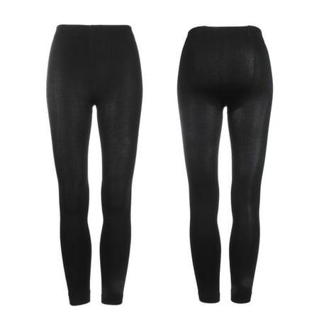 Hot Sale Women Warm Winter Thick Footless Tights Skinny Slim Leggings Stretch Pants, Black - Hot Teen Tights