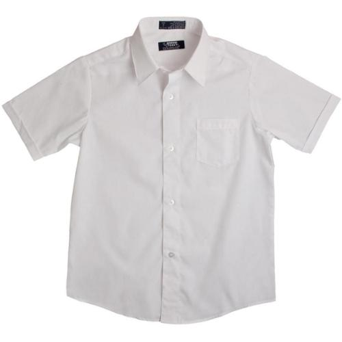 White Short Sleeve Button Down Boys Uniform Shirt 4-6 - Walmart.com