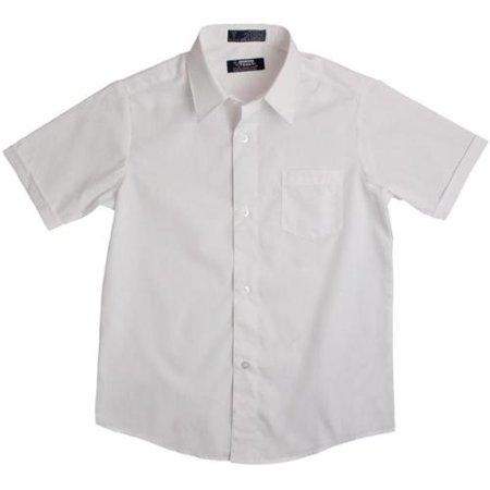 White Short Sleeve Button Down Boys Uniform Shirt 4-6 - Walmart.com