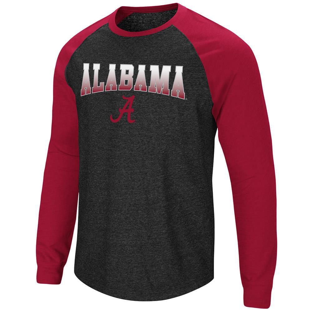 Mens Alabama Crimson Tide Long Sleeve Raglan Tee Shirt - M