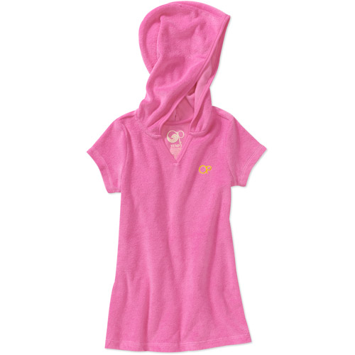 OP Baby Girls Terry Hooded Swim Cover Up