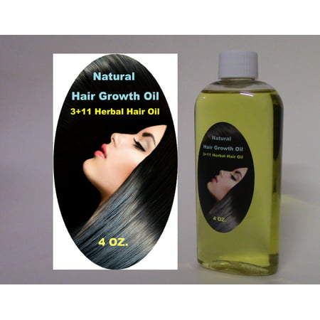 AMLA-REETHA-SIKAKAI + 11 OILS Hair Growth Oil Faster Hair Growth Grow Long Hair 4 OZ. Bottle No Chemicals All