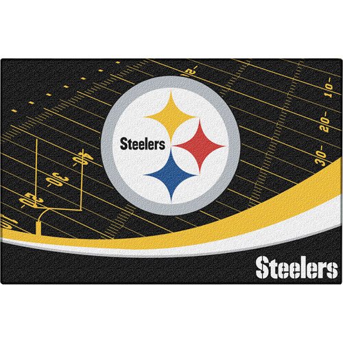 "NFL Pittsburgh Steelers 39"" x 59"" Tufted Nylon Rug"