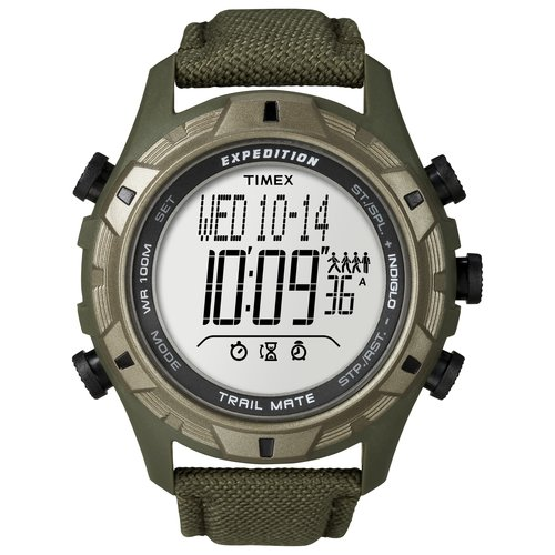 Timex Men's Expedition Trail Mate Watch, Green Fast-Wrap Velcro Strap