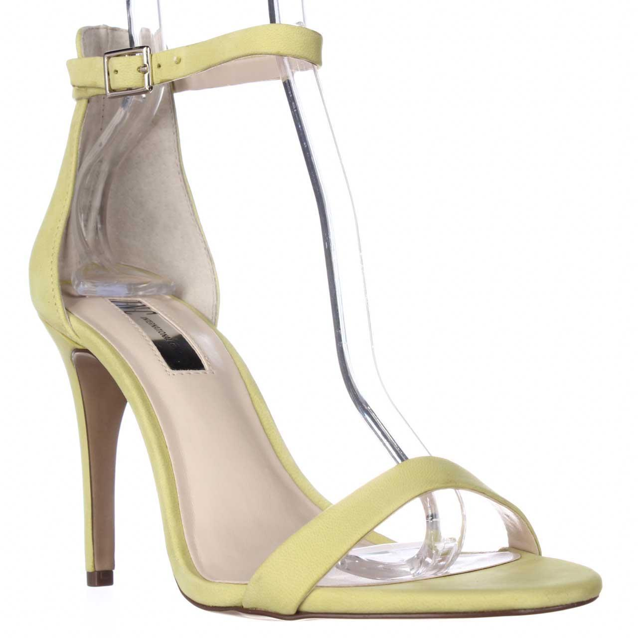 Womens INC Roriee Ankle Strap Dress Sandals - Chartreuse