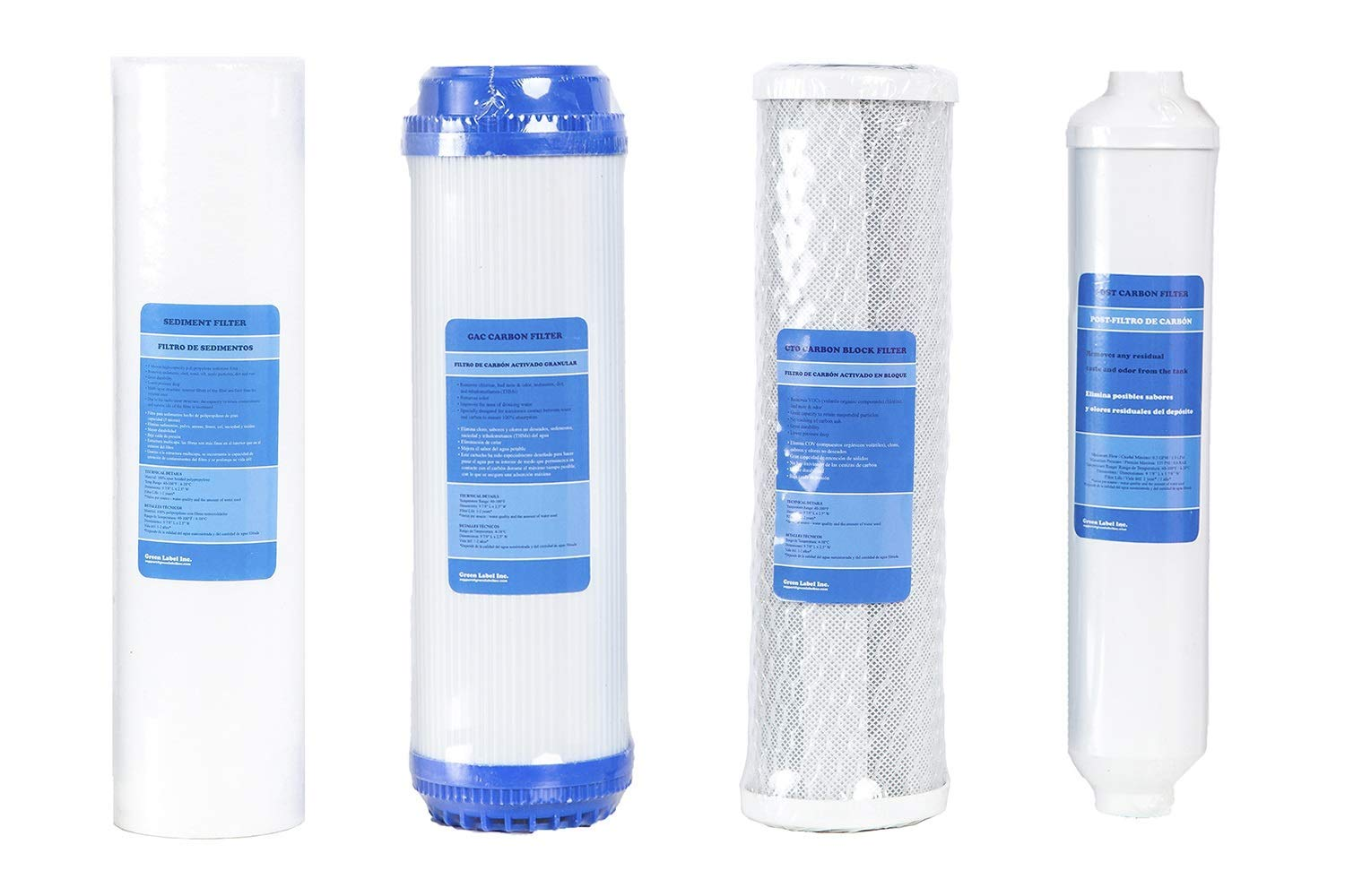 5-Stage Reverse Osmosis Water Filtration System CHJ 10-Inch Water Purifier Universal Filter Element Advanced Filtration Long Life