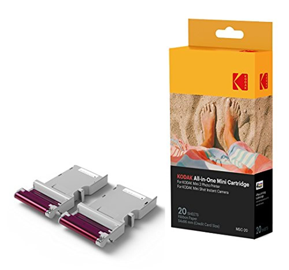 Kodak Mini 2 Photo Printer Cartridge MC All-in-One Paper & Color Ink Cartridge Refill - 20 Pack - COMPATIBLE with Mini Shot Camera, Mini 2 Printer (Not Original Mini)