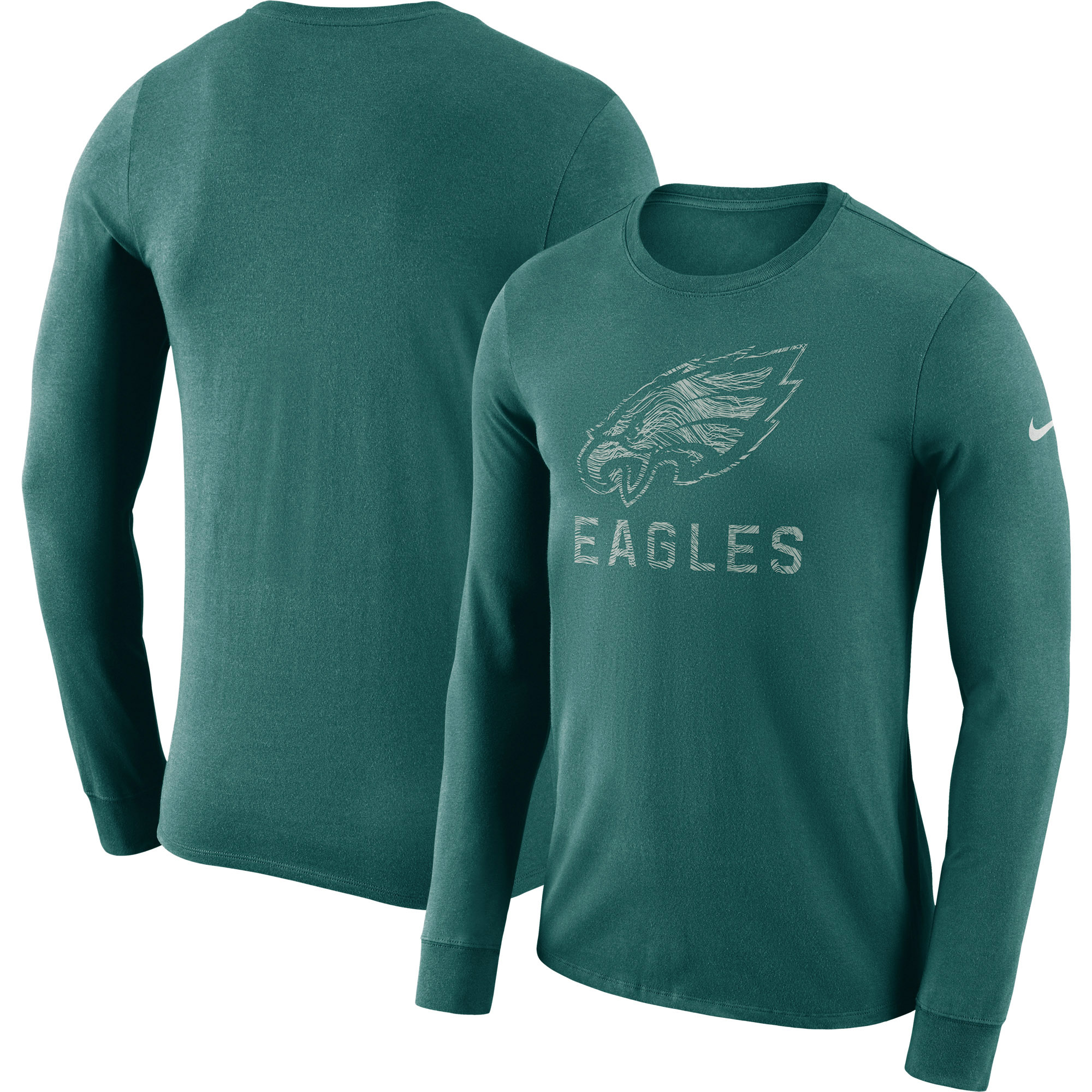 Philadelphia Eagles Nike Sideline Seismic Performance Long Sleeve T-Shirt - Midnight Green