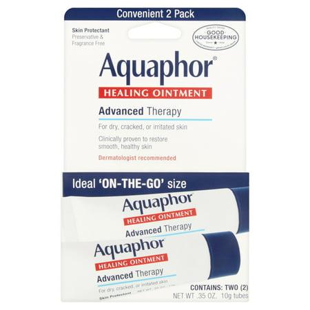 Aquaphor Advanced Therapy Apaisant guérison Pommade, 0,35 oz, 2 pièces