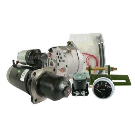 DB Electrical AKT0017 New Alternator Starter Conversion Kit For John Deere Tractor 3010 3020 4010 4020 24 to 12 volt SE501474 TY16172