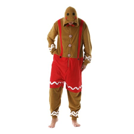 Christmas Onesie.Followme Mens Christmas Adult Onesie Xmas Gingerbread Man X Large