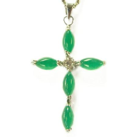 - Jade Cross Pendant-add chain