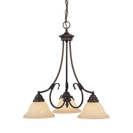 Millennium Lighting 1193 Fulton 3-Light Single Tier (Casual 3 Tier Lighting)