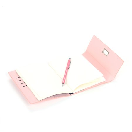 Moustache® Color PU Notebook, 96 Sheets With Pen, B6 , Pink - image 3 of 5