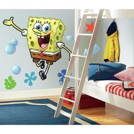 SPONGEBOB SQUAREPANTS Giant Wall Decals Nickelodeon Mural Kids Room Decor Stickers](Giant Wall Stickers)