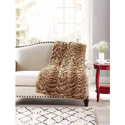 Better Homes And Gardens Luxe Faux Fur Throw Blanket