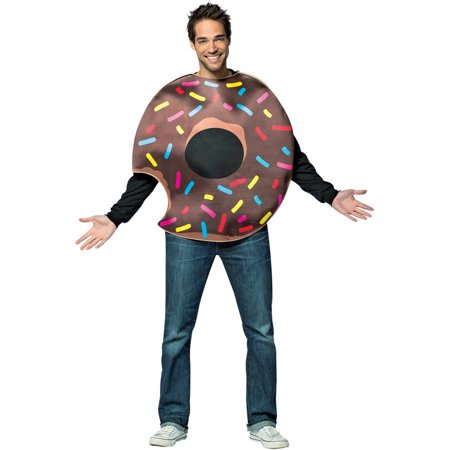 Chocolate Doughnut with Bite Men's Adult Halloween Costume