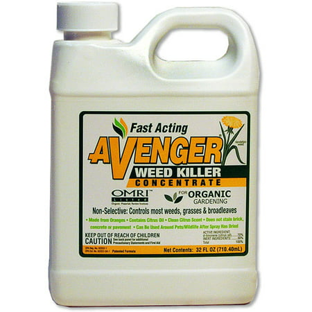 Avenger Organic Weed Killer 32-Ounce Concentrate (Best Organic Weed Killer)