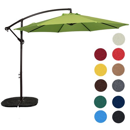 Sundale Outdoor 10 Feet Aluminum Offset Patio Umbrella with Crank, 8 Steel Ribs ()