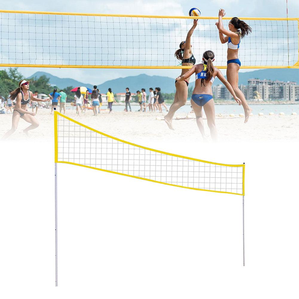 Volleyball Net Set Outdoor Portable Badminton Net Set Adjustable Foldable Badminton Tennis Volleyball Net Set For Beach Grass Park Outdoor Venues Walmart Com Walmart Com