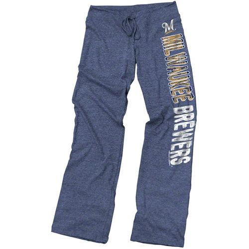 MLB - Milwaukee Brewers Navy Women's Drawcord Tri-Blend Pants