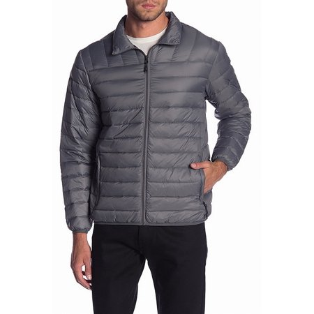 Mens Large Quilted Packable Down Jacket L