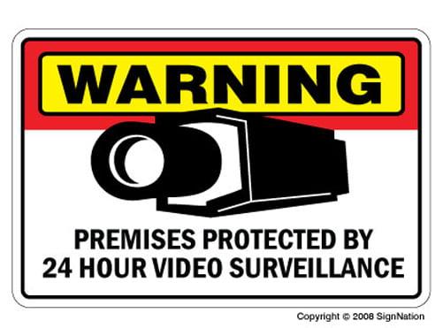 Bumper Sticker Warning vehicle under 24 hour video surveillance