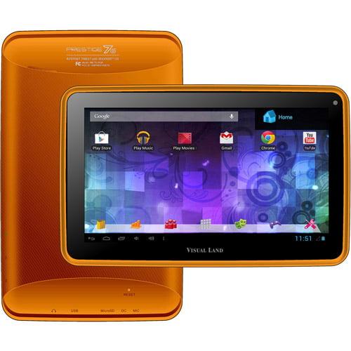 "Visual Land Prestige 7"" Tablet 8GB Memory Bonus Screen Cover"
