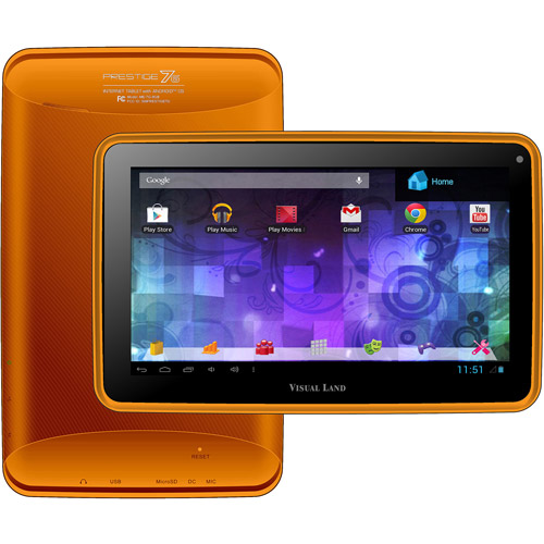 """Visual Land Prestige 7"""" Touchscreen Android Tablet 8GB"""