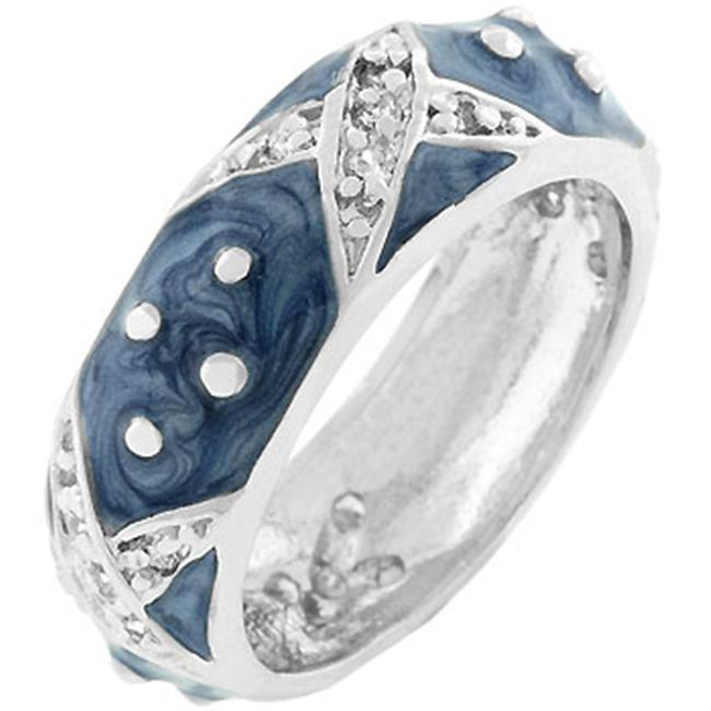Boogie Down Blue Enamel Ring- Size- 10