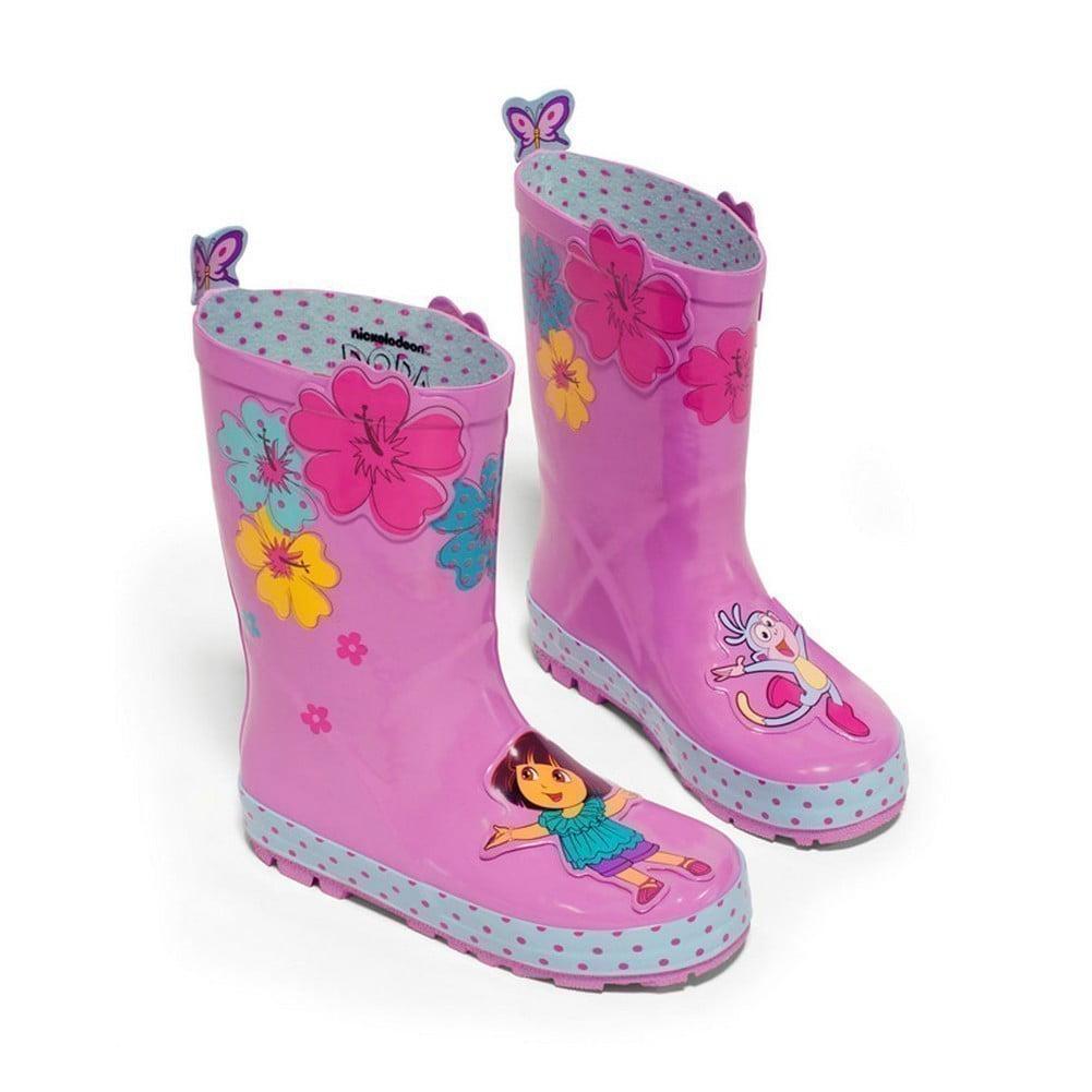 Kidorable Little Girls Pink Rubber Rain Boots 5-10 Toddler