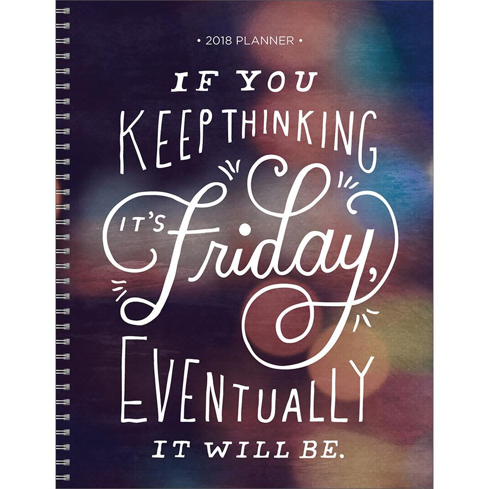 2018 Thinking Friday Large Weekly Monthly Planner - Walmart.com