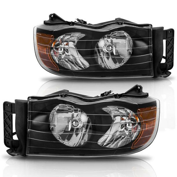 Headlight Assembly Fit For 2002 2005 Dodge Ram 1500 2003 2005 Dodge Ram 2500 3500 Black Housing Amber Reflector Passenger Driver Side Walmart Com Walmart Com