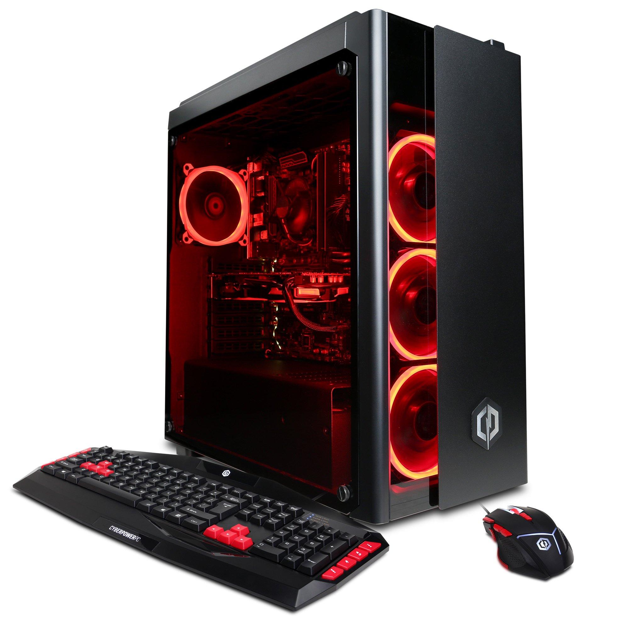 CyberPowerPC GXI1130 Gamer Xtreme Desktop Intel Core i7 16GB Memory AMD Radeon RX 580 Black
