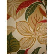 Antigua Dining Arm Chair in Royal Oak-Fabric:Jungle Leaves