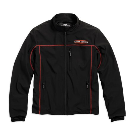 Harley-Davidson Men's Anton Windproof Mid-Layer Casual Jacket (2XL), Black - Bi Layer Jacket