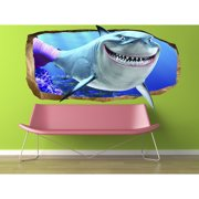 Startonight 3D Mural Wall Art Photo Decor Pink Shark Amazing Dual View Surprise Wall Mural Wallpaper for Bedroom Kids Wall Art Gift Large 47.24 ?? By 86.61 ??