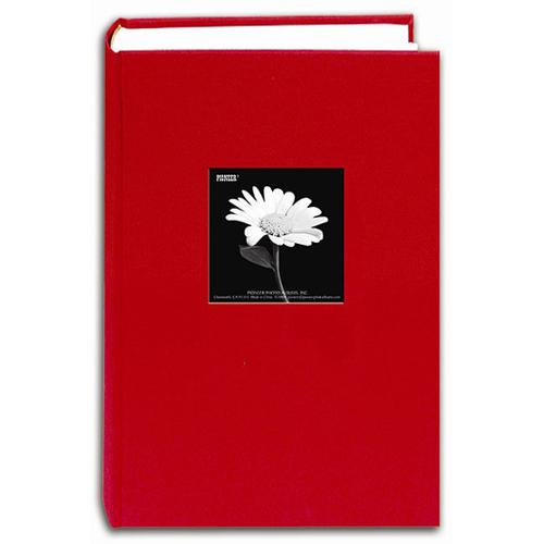 Pioneer Photo Albums Pioneer Fabric Frame Cover Apple Red Bi-directional Memo Albums (Pack of 2)