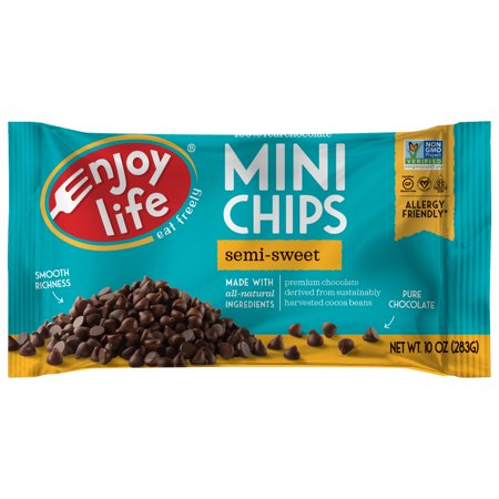 Enjoy Life Semi-Sweet Dairy Free Mini Chocolate Chips, Vegan, 10 (Trader Joes Semi Sweet Chocolate Chips Nutrition Facts)