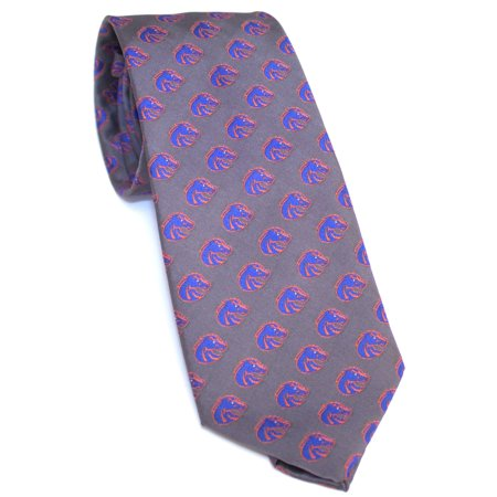 Boise State Broncos Primary Logo on Charcoal Necktie