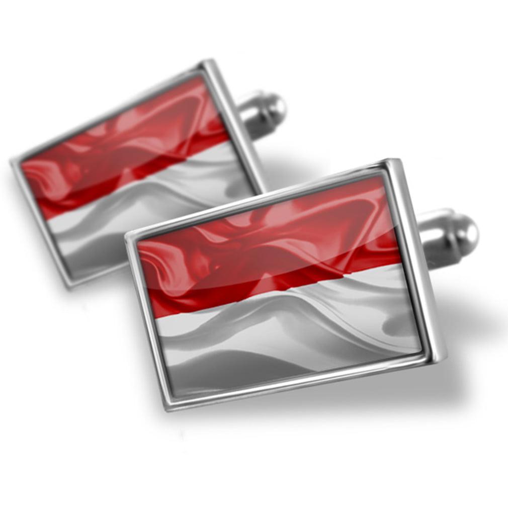 Cufflinks Monaco 3D Flag - NEONBLOND