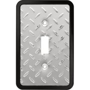 Franklin Brass Diamond Plate Single Switch Wall Plate in Polished Chrome