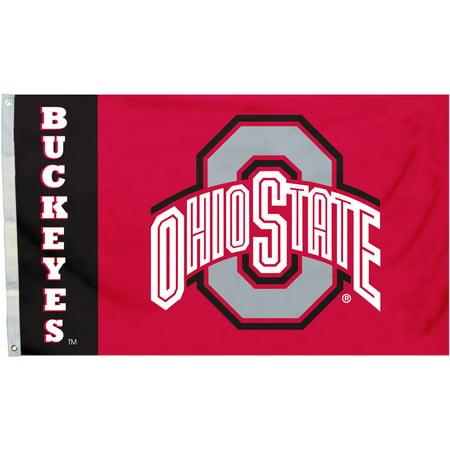 Ncaa Door Flag - NCAA Ohio State Buckeyes Red 3' x 5' Flag