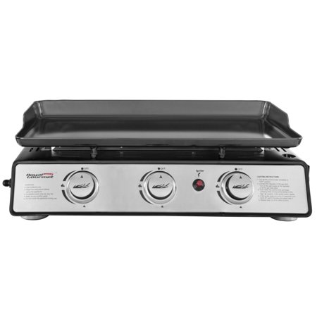 Royal Gourmet PD1301S Portable Flat Top Propane 3-Burner Gas Grill Griddle, 25,500-BTU, for Outdoor Cooking, while camping or Tailgating, Black - image 1 of 2