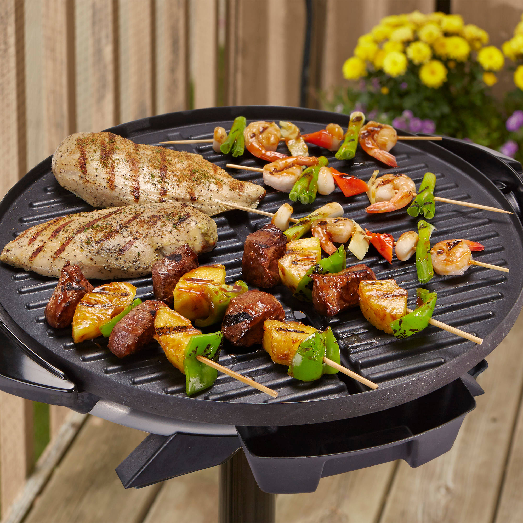 George Foreman 15-Serving Indoor/Outdoor Grill, GFO240S - Walmart.com