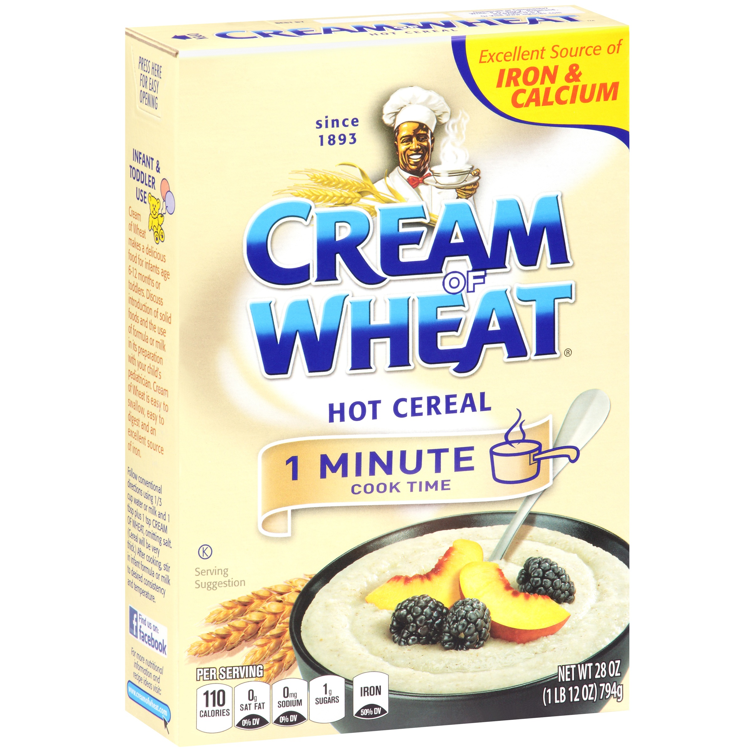 Cream Of Wheat 1 Minute Hot Cereal, Orignal, 28 Oz